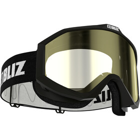 Bliz Liner Gafas Lentes de Contraste, black-white/yellow
